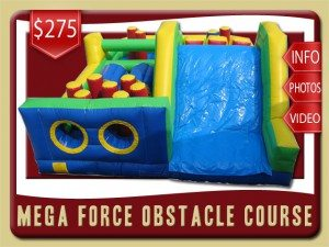 megaforce Slide Course Inflatablerental port orange price red yellow blue green
