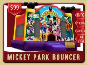 mickey mouse bounce house party rental ormond beach price minnie mouse donald duck daisy duck pluto goofy