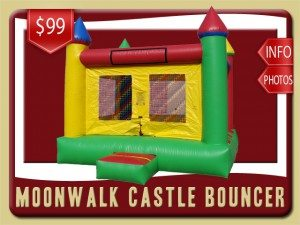 moonwalk castle inflatable rental deltona price green yellow red blue