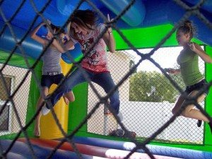 ninja jump bounce house event rental lake helen