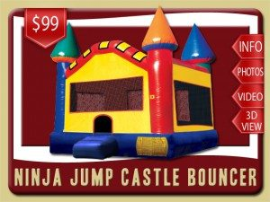 ninja jump castle inflatablerental deland price red blue yellow green