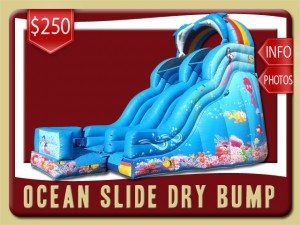 ocean slide inflatable dry bump party rental lake helen price mermaid dolphins blue