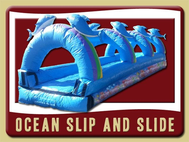 Ocean Slip and Slide Water Rent Orange City Coral Reef Dolphins