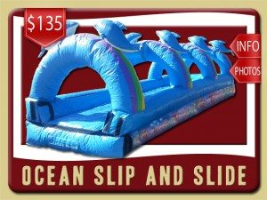 ocean slip n slide water rent orange city price dolphins rainbows