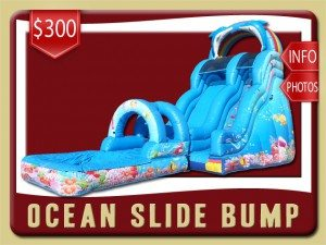 ocean water slide pool bump rental orange city price blue dolphins fish