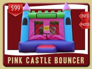 pink castle inflatable rental lake helen price blue purple green