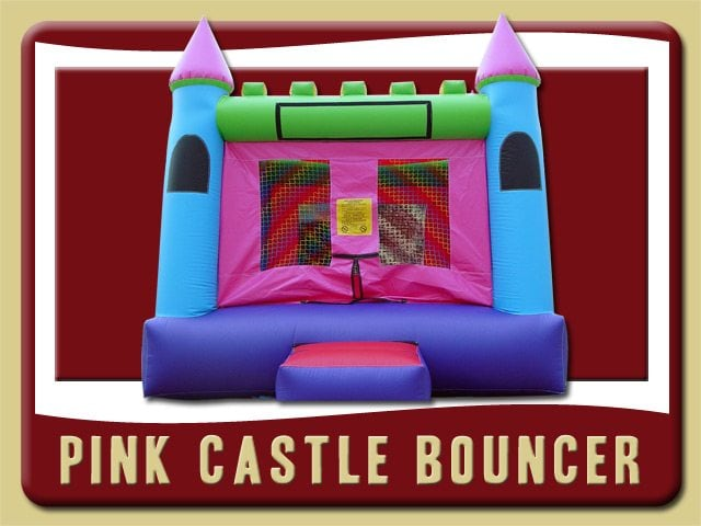 Pink Castle Inflatable Rental Lake Helen