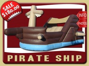 pirate ship inflatable slide rental daytona beach sales brown tan blue