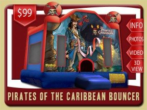pirates caribbean bounce house rental port orange price jack sparrow red blue