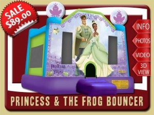 princess frog bounce house rental ormond beach sale tiana purple green blue