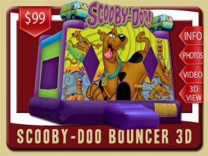 scooby doo bounce house party rental deland price purple green
