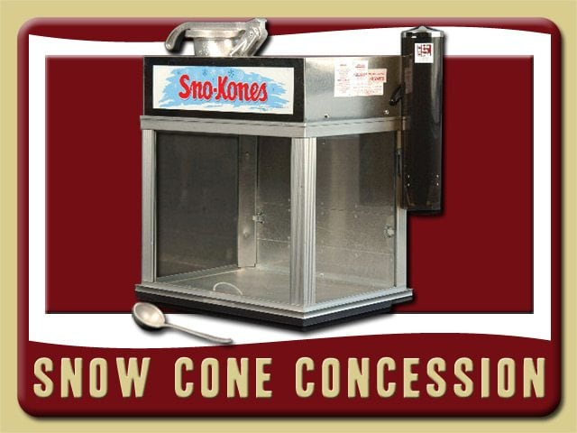 Snow Cone Party Food Concession Rental Ponce Inlet