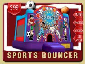 sport bounce house basketball baseball football soccer rental ormond beach price purple blue