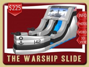 war ship navy water slide party rental de leon springs price gray black
