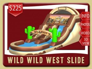 wild west cowboy water slide inflatable rental daytona beach price brown tan