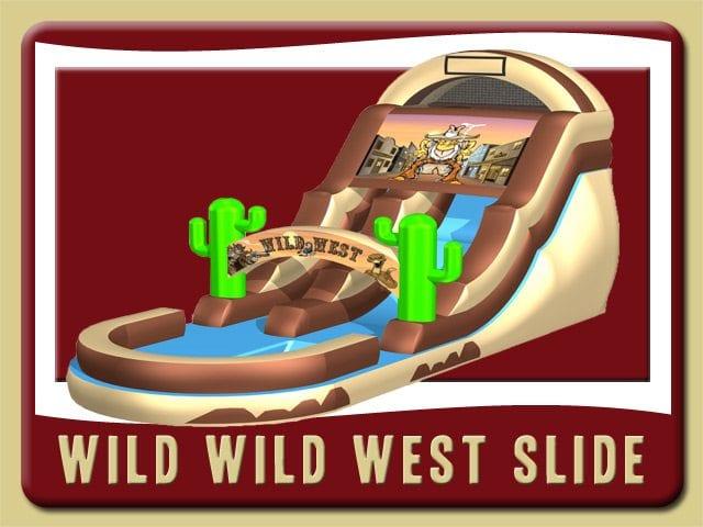 Wild Wild West Cowboy Water Slide Inflatable Rental Daytona Beach