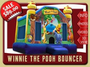 winnie pooh bounce house party rental palm coast sales eeyore kanga tigger yellow blue