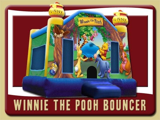 Winnie the Pooh Bounce House Party Rental Palm Coast Tigger Eeyore Piglet blue yellow