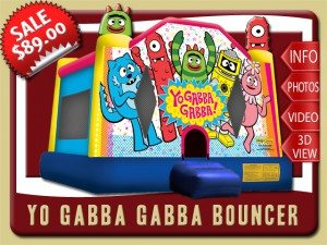 yo gabba bounce house rental hastings sales toodee brobee red yellow blue