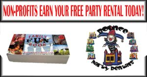 Free Party Rentals from My Family Fun Book Fundraiser