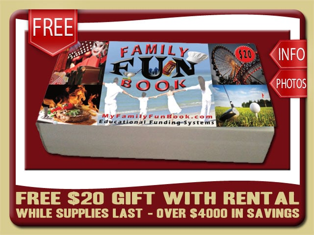 Free Coupon Book with Rental