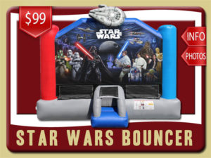 Star Wars Bounce House Rental Luke Skywalker, Princess Leia, Chewbacca, Yoda, Darth Vader, Han Solo, Boba Fett, C3po, R2d2